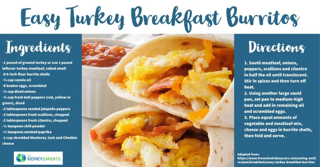 Easy Turkey Breakfast Burritos
