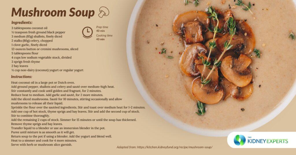 Kidney Friendly Mushroom Soup