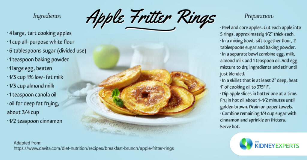 the kidney experts recipes apple fritter donut