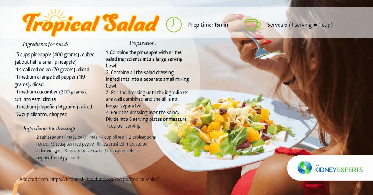 Tropical Salad with Pineapple and Jalapeño