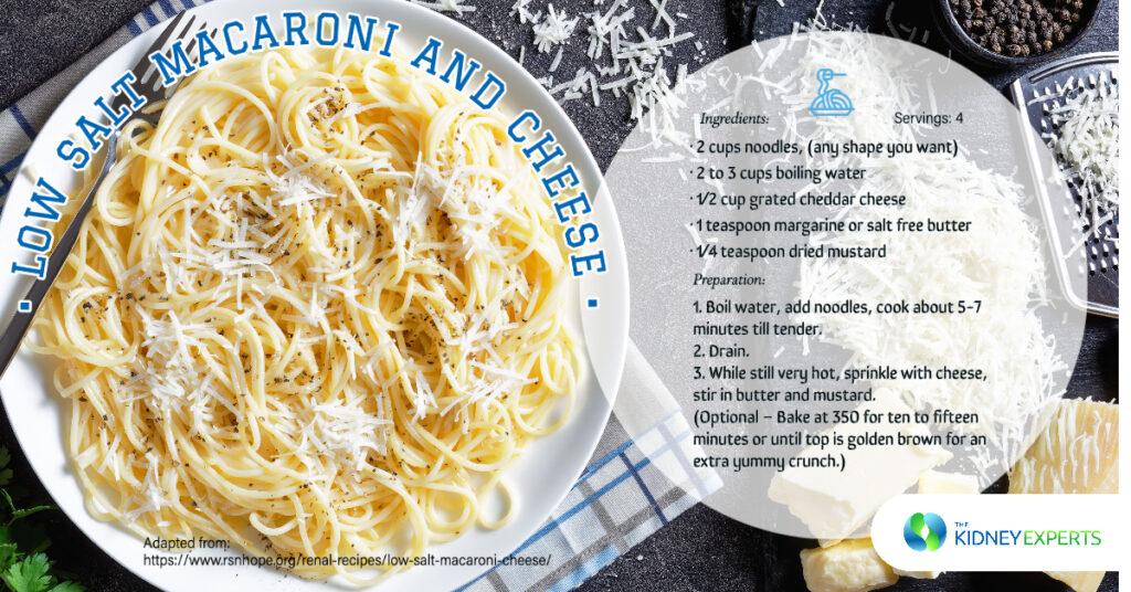 kidney experts labor day macaroni cheese recipe