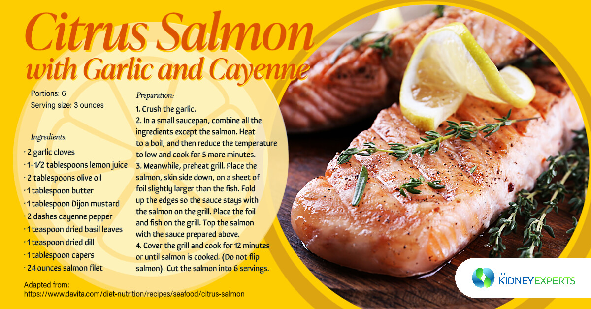 Citrus Salmon with Garlic and Cayenne