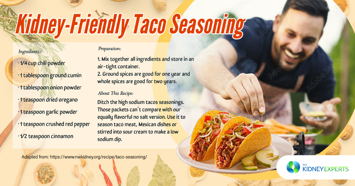 Kidney-Friendly Taco Seasoning